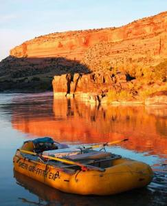 Sheri Griffith Expeditions, raft on river in canyon
