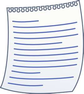 clip art of blank lined writing pad