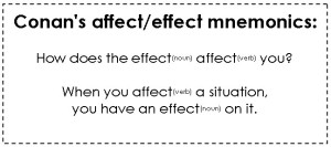 Conan the Grammarian's Affect Effect visual aid