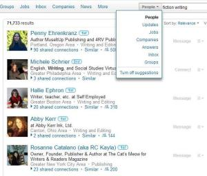 LinkedIn example of a people search