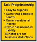 Sole Proprietorship description