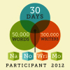 NaNoWrimo 2012 Participant badge