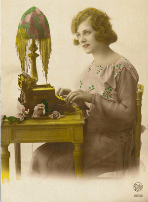 antique typist photo