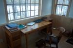 My desk, where I've written three drafts of Ellen this year.