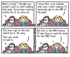 A Reader's Dilemma Credit: http://inkygirl.com/