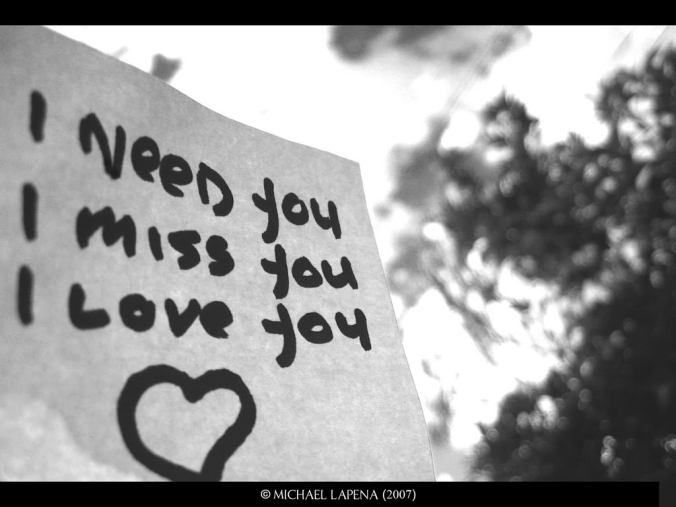 I Need You I Miss You I Love