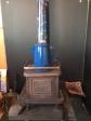 The wood stove.