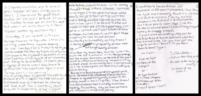 Scans of my three handwritten pages.