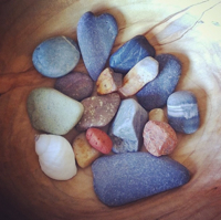 Stones from a Bar Harbor beach