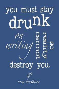 pin drunk on writing