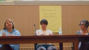 Wendy, Lisa & Deborah at Bookstock. Photo by Mark Nozell.