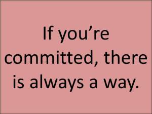 If You're Committed
