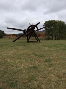 Abstract sculptures at Storm King Art Center