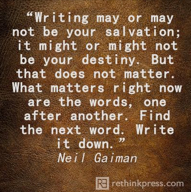 pin writing salvation gaiman