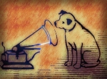 victrola dog art