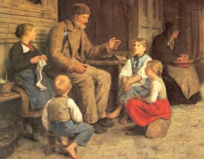 """""""Storyteller"""" (Anker Grossvater, 1884)"""