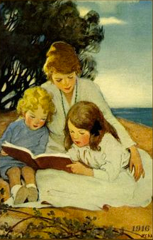 Jessie Willcox Smith - Mother and Children Reading