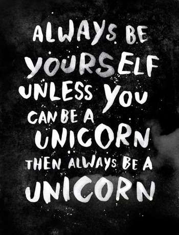 pin be a unicorn