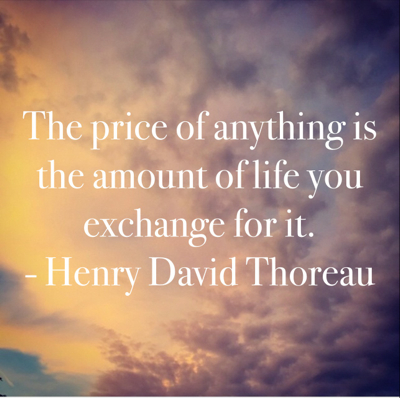 pin price of anything thoreau
