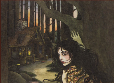 Illustration by Trina Schart Hyman for her adaptation of Snow White