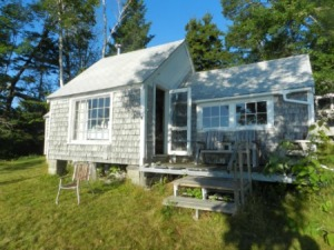 This is my cousin's cabin in Maine where I wrote this summer, sidelined by my broken ankle.