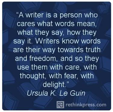 pin leguin a writer is