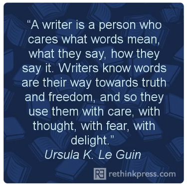 pin leguin a writer is
