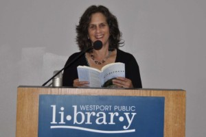 On book tour with my first novel. Photo courtesy of Phillis Groner