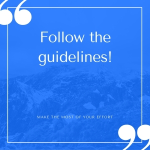 FollowTheGuidelines