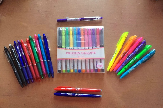 FriXion Gel - markers- highlighters