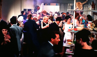 A not-so-still shot from the film version of Breakfast at Tiffany's