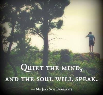 pin quiet mind soul speak