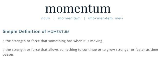 define momentum