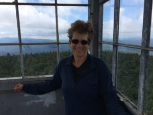 In the fire tower on Stratton Mountain.
