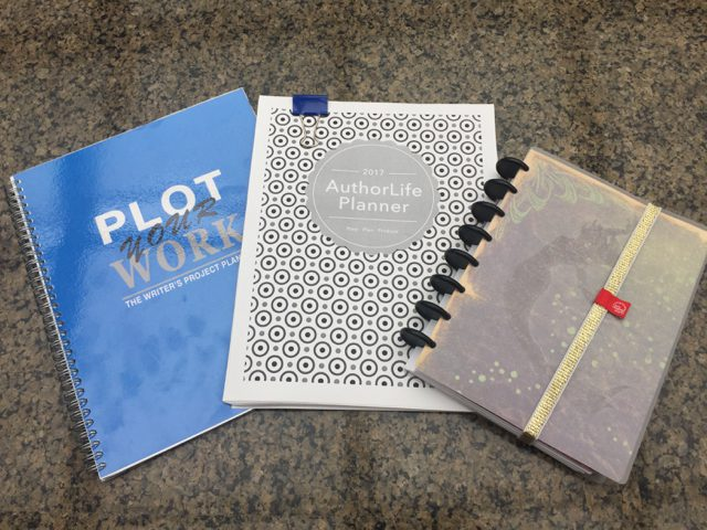 Three planners: Plot Your Work 2017 AuthorLife, WriteMind Planner