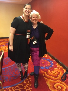 Lee Laughlin standing next to Jeni Burns in the prep room at NJRWA 10-16
